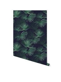 Creative Lab Amsterdam Palm Leaves Dark Green Behang op rol Sample