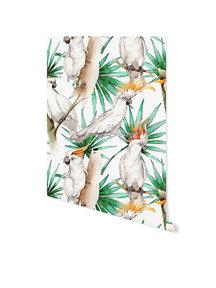 Creative Lab Amsterdam White Parrot Behang op rol Sample
