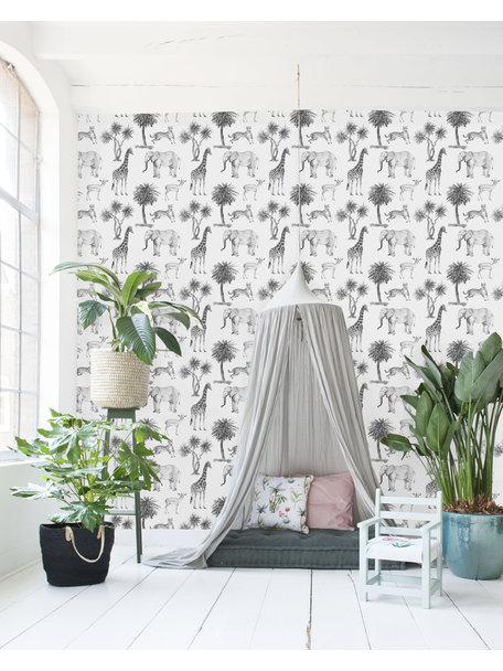 Creative Lab Amsterdam Savanna Black & White Behang