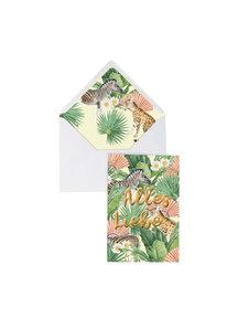 Creative Lab Amsterdam Flower Garden Greeting Card - Alles Liebe