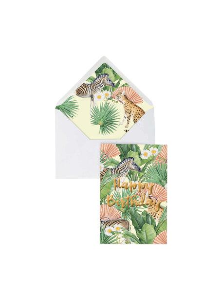 Creative Lab Amsterdam Flower Garden Wenskaart- Happy Birthday