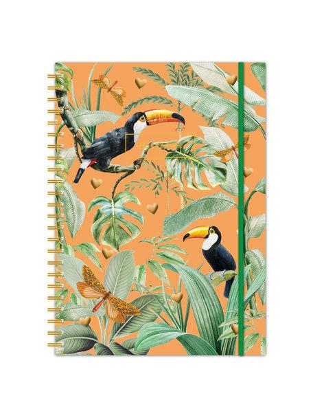 Creative Lab Amsterdam Flirting toucans A4 Bullet Journal