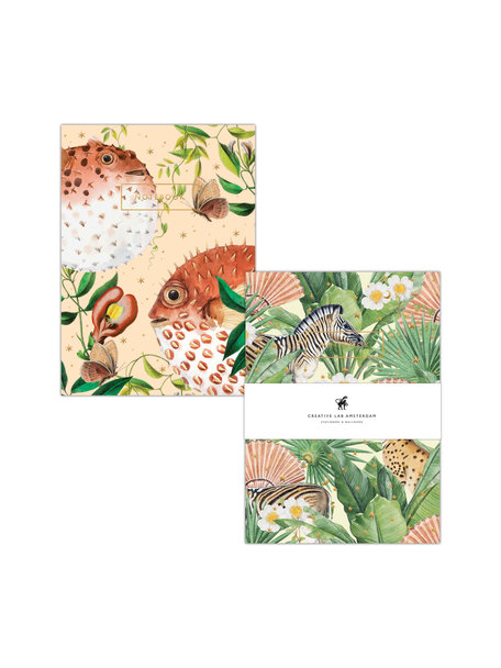 Creative Lab Amsterdam Blow Up/Flower Garden notebook set