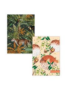 Creative Lab Amsterdam Mighty Jungle/ Blowfish A4 notebookset