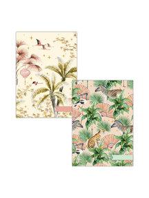 Creative Lab Amsterdam Oriental Flamingo flight/ Sweet Jungle A4 notebookset