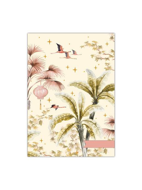 Creative Lab Amsterdam Oriental Flamingo flight/ Sweet Jungle A4 schriftset