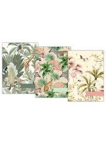 Creative Lab Amsterdam Oriental Flamingo Flight/Into the Wild/Sweet Jungle A5 notebookset