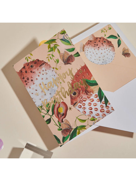 Creative Lab Amsterdam Blow Up Greeting Card - Happy Birthday