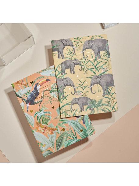Creative Lab Amsterdam Flirting Toucans /Oscar the Elephant schriftset