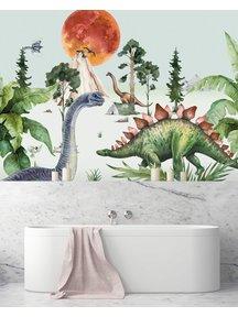 Creative Lab Amsterdam Dino by Moonlight bathroom Wallpaper