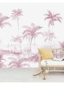 Creative Lab Amsterdam Exotic palms Pink Sample