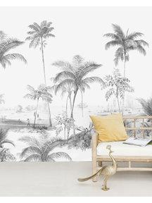 Creative Lab Amsterdam Exotic palms Black & White Sample