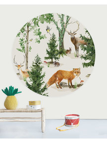 Creative Lab Amsterdam Forest Life Wallpaper Circle