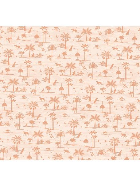 Creative Lab Amsterdam Jungle Silhouette Pink Wallpaper Mural