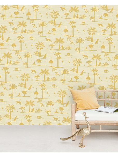 Creative Lab Amsterdam Jungle Silhouette Yellow Behang Mural
