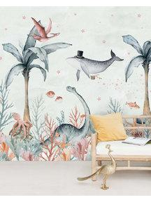 Creative Lab Amsterdam Flying Whale Behang Mural