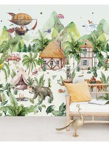 Creative Lab Amsterdam The magical village Behang Mural