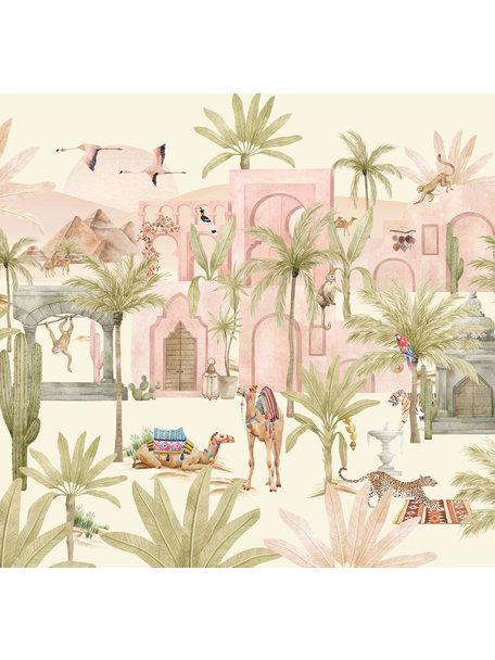 Creative Lab Amsterdam Pink Oasis Behang Mural