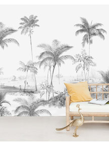Creative Lab Amsterdam Exotic palms  Black & White Behang