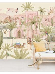 Creative Lab Amsterdam Pink Oasis Behang