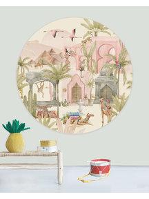 Creative Lab Amsterdam Pink Oasis Wallpaper Circle