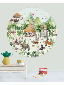 Creative Lab Amsterdam Magical village Wallpaper Circle