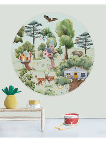 Creative Lab Amsterdam Treehouse in the Forest Wallpaper Circle