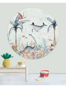 Creative Lab Amsterdam Flying Whale Wallpaper Circle