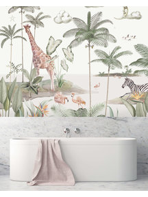 Creative Lab Amsterdam Smiling Jungle Moon Bathroom Wallpaper