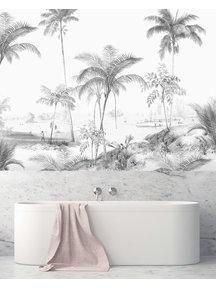 Creative Lab Amsterdam Excotic Palms Balck&White Badkamer Behang