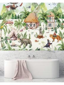Creative Lab Amsterdam Magical village Bathroom Wallpaper
