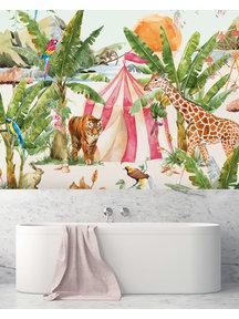 Creative Lab Amsterdam Circus at sunset Bathroom Wallpaper