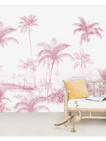 Creative Lab Amsterdam Exotic palms Pink Behang