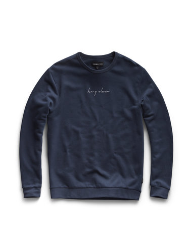 Handwritten Crewneck - Navy Blue
