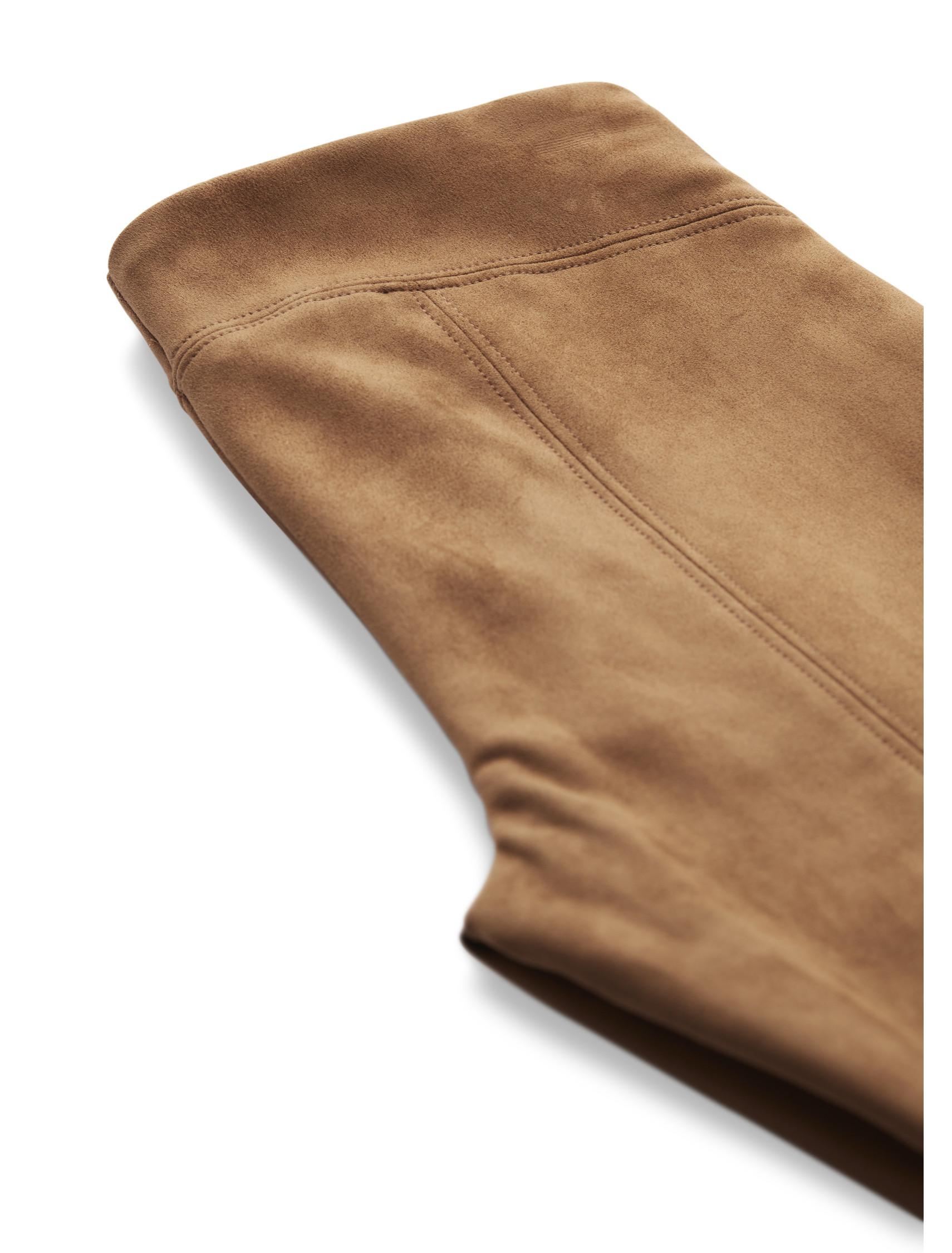 Suedine Pants  - Brown