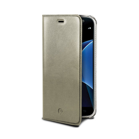 Celly AIR PELLE GALAXY S7 GOLD