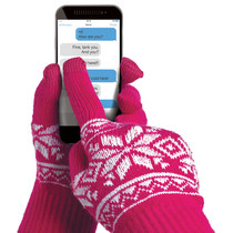 TOUCH GLOVES FUXIA S/M SIZE