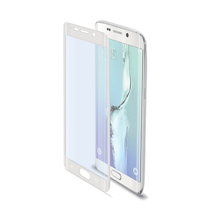 Celly FULL CURVE GLASS GALAXY S6 EDGE WH