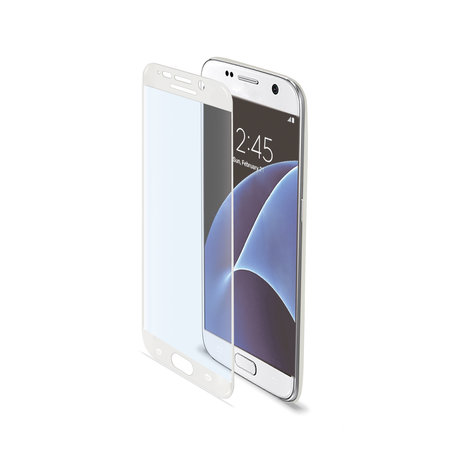 Celly FULL CURVE GLASS GALAXY S7 WHITE
