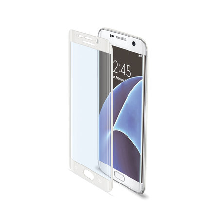 Celly FULL CURVE GLASS GALAXY S7 EDGE WH