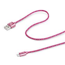 USB CABLE MICRO TEXTILE FUXIA