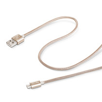 USB CABLE MICRO TEXTILE GOLD