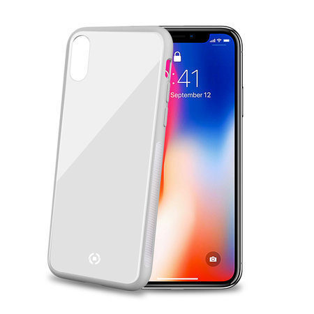 Celly DIAMOND GLASS CASE IPX/XS WH