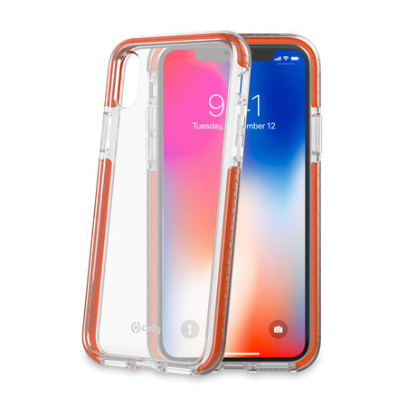 Celly HEXAGON COVER IPHONE X/XS ORANGE