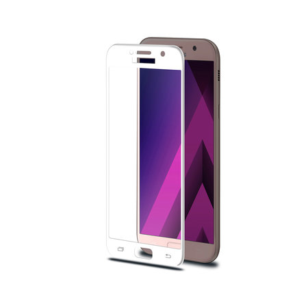 Celly 3D GLASS GALAXY A3 2017 WHITE