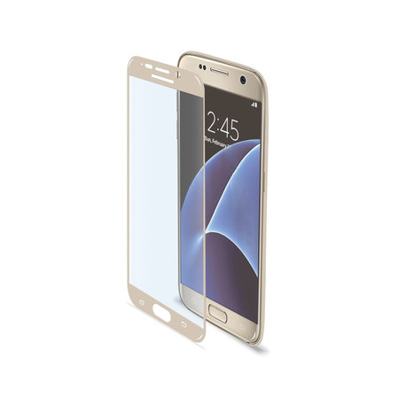 Celly FULL CURVE GLASS GALAXY S7 GOLD