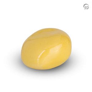 Urnenatelier Schoonhoven KK 019 Cuddle Stone glossy pale yellow