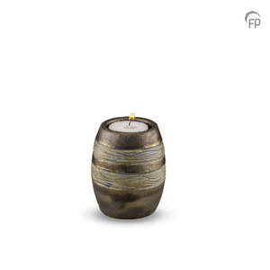 Pottery Bonny KU 306 K Ceramic candle holder metallic