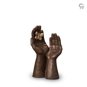 Geert Kunen UGK 053 A Ceramic urn bronze