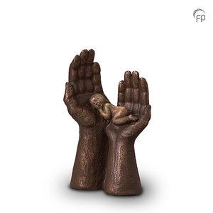 Geert Kunen UGK 056 A Ceramic urn bronze